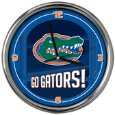 Florida Gators Go Team! Chrome Clock