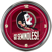 Florida State Seminoles Go Team! Chrome Clock