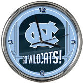 North Carolina Tar Heels Go Team! Chrome Clock
