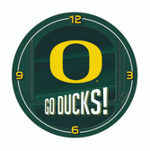 Oregon Ducks Go Team! Chrome Clock
