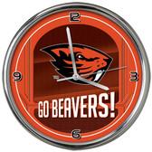 Oregon State Beavers Go Team! Chrome Clock