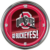 Ohio State Buckeyes Go Team! Chrome Clock