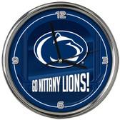 Penn State Nittany Lions Go Team! Chrome Clock