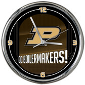 Purdue Boilermakers Go Team! Chrome Clock