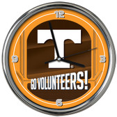 Tennessee Volunteers Go Team! Chrome Clock