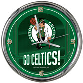 Boston Celtics Go Team! Chrome Clock