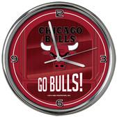 Chicago Bulls Go Team! Chrome Clock