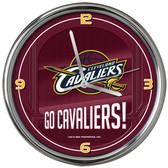 Cleveland Cavaliers Go Team! Chrome Clock