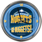 Denver Nuggets Go Team! Chrome Clock