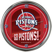 Detroit Pistons Go Team! Chrome Clock