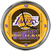 Los Angeles Lakers Go Team! Chrome Clock