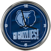 Memphis Grizzlies Go Team! Chrome Clock