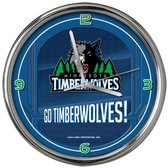 Minnesota Timberwolves Go Team! Chrome Clock
