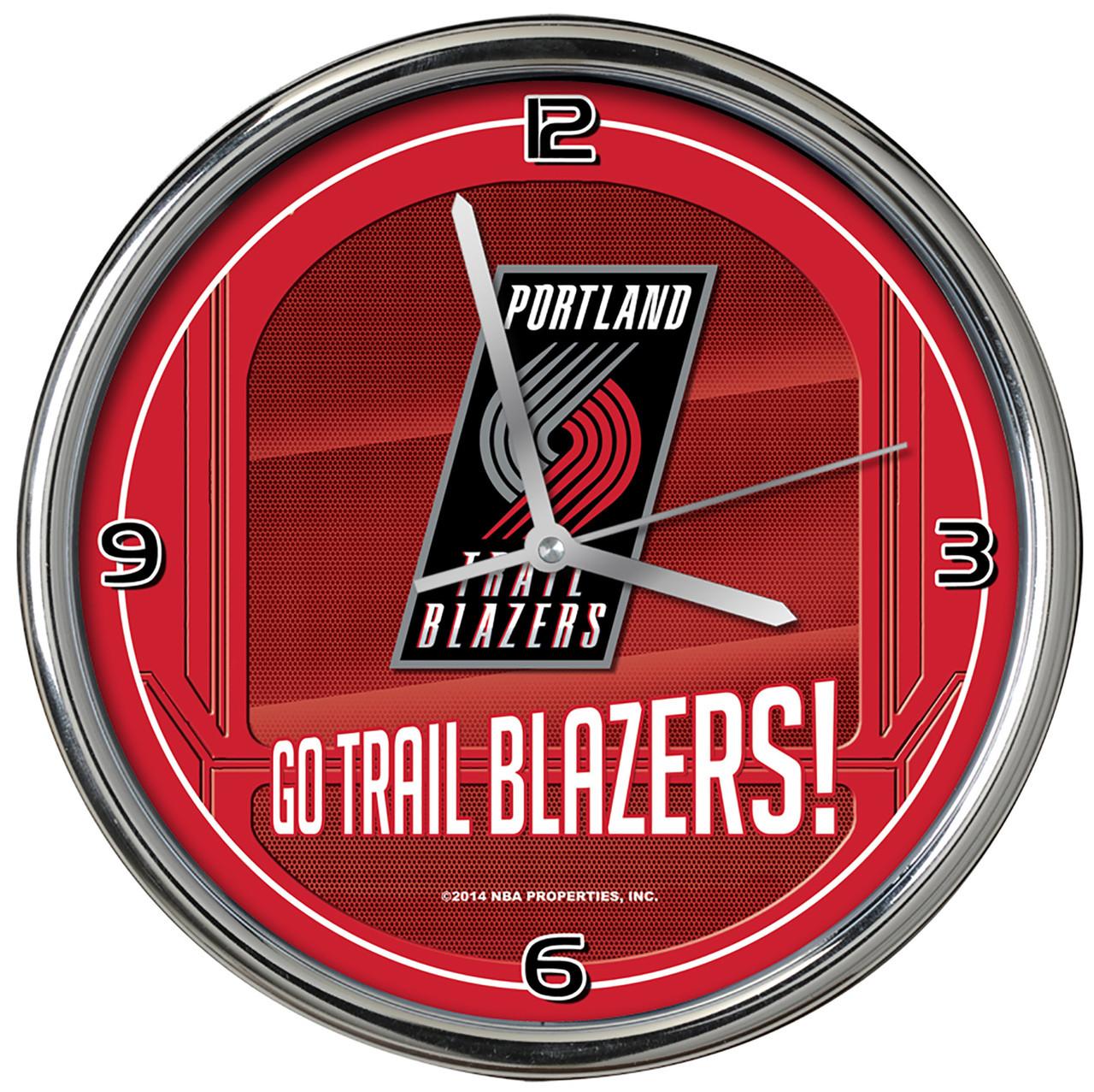Blazers Roster: Portland Trail Blazers Go Team! Chrome Clock