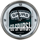 San Antonio Spurs Go Team! Chrome Clock