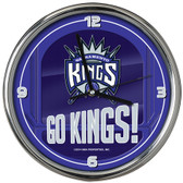 Sacramento Kings Go Team! Chrome Clock