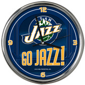Utah Jazz Go Team! Chrome Clock
