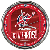 Washington Wizards Go Team! Chrome Clock