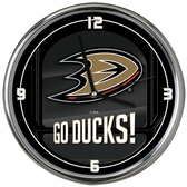 Anaheim Ducks Go Team! Chrome Clock