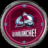 Colorado Avalanche Go Team! Chrome Clock