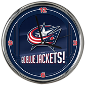 Columbus Blue Jackets Go Team! Chrome Clock