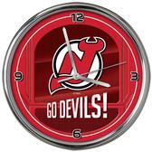 New Jersey Devils Go Team! Chrome Clock