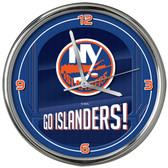 New York Islanders Go Team! Chrome Clock