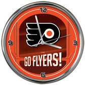 Philadelphia Flyers Go Team! Chrome Clock