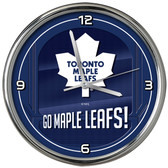 Toronto Maple Leafs Go Team! Chrome Clock