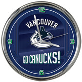 Vancouver Canucks Go Team! Chrome Clock