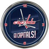 Washington Capitals Go Team! Chrome Clock