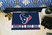 """Houston Texans Worlds Best Dad Starter Rug 19""""x30"""""""