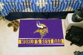 "Minnesota Vikings Worlds Best Dad Starter Rug 19""x30"""