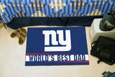"New York Giants Worlds Best Dad Starter Rug 19""x30"""