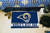 "St. Louis Rams Worlds Best Dad Starter Rug 19""x30"""