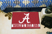 "Alabama Crimson Tide Worlds Best Dad Starter Rug 19""x30"""