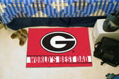 "Georgia Bulldogs Worlds Best Dad Starter Rug 19""x30"""