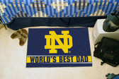 "Notre Dame Fighting Irish Worlds Best Dad Starter Rug 19""x30"""