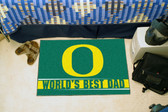 "Oregon Ducks Worlds Best Dad Starter Rug 19""x30"""