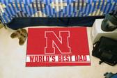 "Nebraska Cornhuskers Worlds Best Dad Starter Rug 19""x30"""