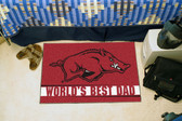 "Arkansas Razorbacks Worlds Best Dad Starter Rug 19""x30"""