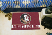 "Florida State Seminoles Worlds Best Dad Starter Rug 19""x30"""