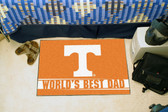 "Tennessee Volunteers Worlds Best Dad Starter Rug 19""x30"""