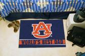 "Auburn Tigers Worlds Best Dad Starter Rug 19""x30"""
