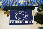 """Penn State Nittany Lions Worlds Best Dad Starter Rug 19""""x30"""""""