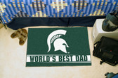 "Michigan State Spartans Worlds Best Dad Starter Rug 19""x30"""