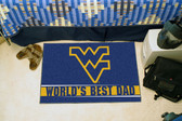 "West Virginia Mountaineers Worlds Best Dad Starter Rug 19""x30"""