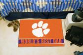 """Clemson Tigers Worlds Best Dad Starter Rug 19""""x30"""""""