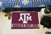 "Texas A&M Aggies Worlds Best Dad Starter Rug 19""x30"""
