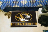 "Missouri Tigers Worlds Best Dad Starter Rug 19""x30"""